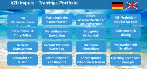 b2b impuls – Trainings-Portfolio